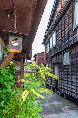 back alley: Evening landscape of the back alley in Kanazawa, Japan