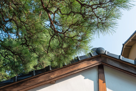 Japanese traditional cityscape Stock Photo