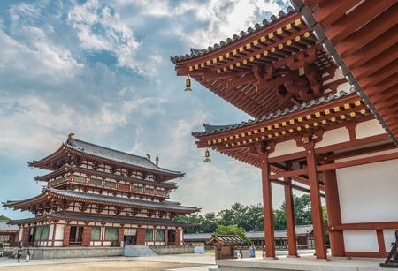 Scenery of Yakushi-ji Temple in ancient city Nara 新聞圖片