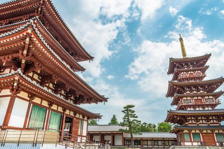 Scenery of Yakushiji Temple in ancient city Nara Editorial