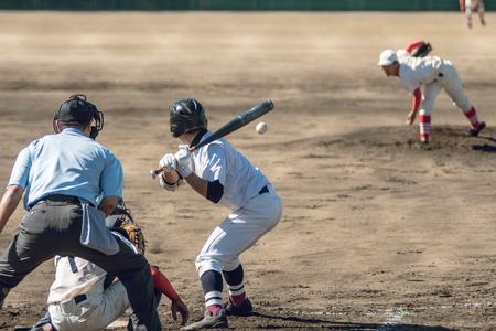 Landschap van de middelbare school honkbalwedstrijd