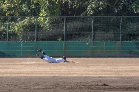 Scenery of the high school baseball game
