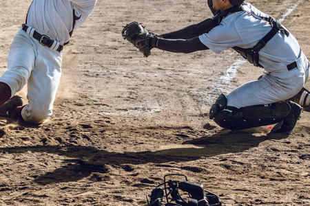 Scenery of the baseball match 版權商用圖片