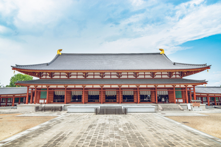 古都奈良の薬師寺の風景 報道画像