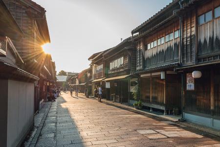 Traditional Japanese cityscape in Kanazawa, Japan 版權商用圖片 - 70358246