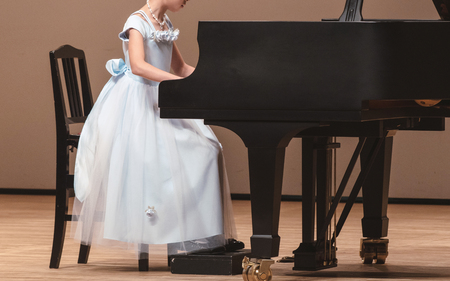 Piano performance of the girl