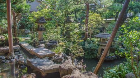 Scenery of the beautiful Japanese garden Stock Photo