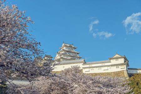 scenic spots: Spring scenery of Himeji Castle Stock Photo