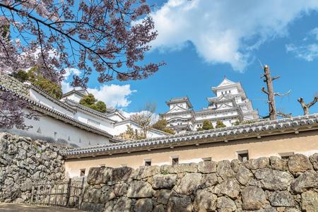 Spring scenery of Himeji castle Stock Photo