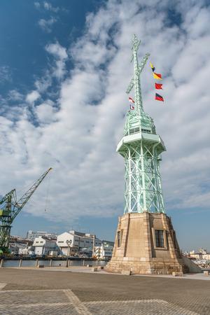 Scenery of the Kobe port Stock Photo