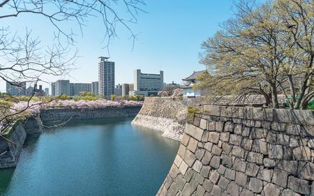 Scenery of Osaka castle
