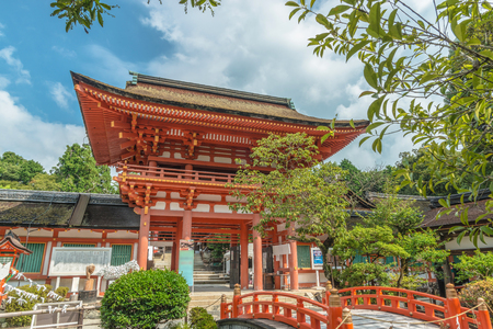 Scenery of the Kamigamo Shrine in Kyoto