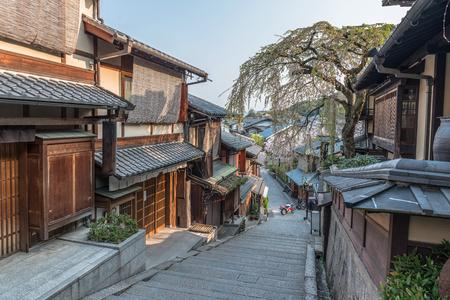 Stadsgezicht van de Higashiyama in Kyoto