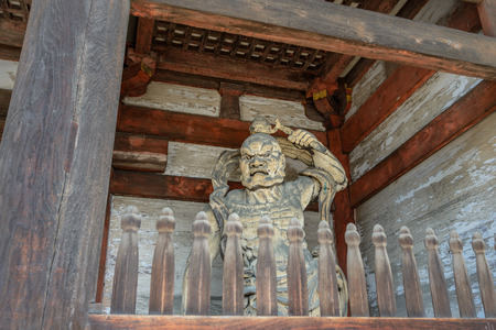 NIO Guardians of the Ninna-ji temple in Kyoto Stock Photo - 79956705
