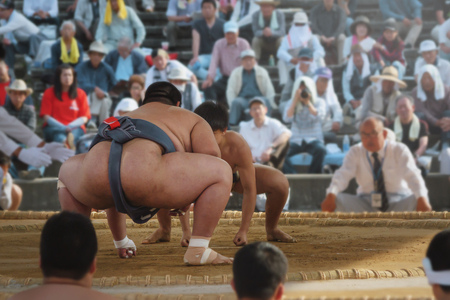 Student sumo wrestler Stock Photo