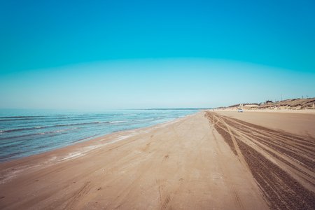 Chirihama Beach Nagisa driveway in Ishikawa, Japan Stock Photo