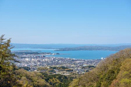 Scenery of the Gulf of Nanao in Nanao city, Japan Stock Photo