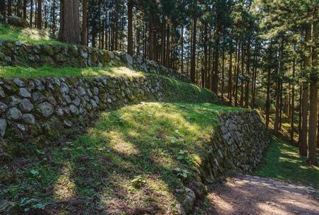 Scenery of the Nanao castle ruins in Ishikawa, Japan 免版税图像