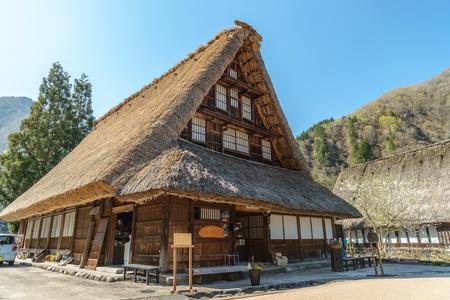 gokayama: scenery of the World Heritage site Suganuma (Gokayama) mountain village in Toyama, Japan Stock Photo