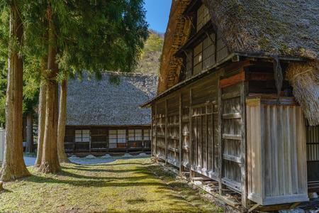 Old house of the World Heritage site Suganuma (Gokayama) mountain village in Toyama, Japan Stock Photo