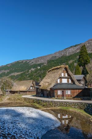 gokayama: Scenery of  Ainokura (Gokayama) mountain village in Toyama, Japan Stock Photo