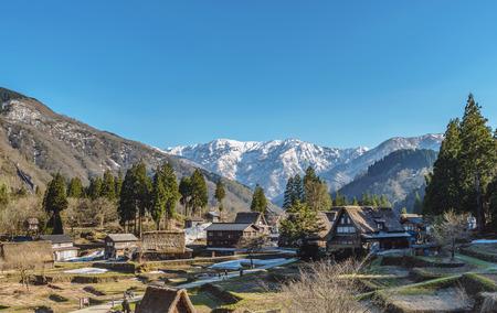 Scenery of the World Heritage site Ainokura (Gokayama) mountain village in Toyama, Japan