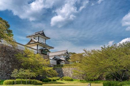 Ishikawamon gate of the Kanazawa castle in Kanazawa, Japan