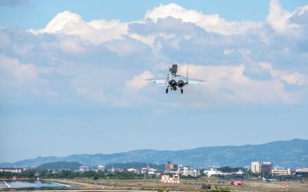 F-15 Eagle fighter jet landing Editorial