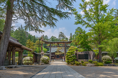 Scenery of the Uesugi-jinja at the Shrine in Yonezawa city, Japan
