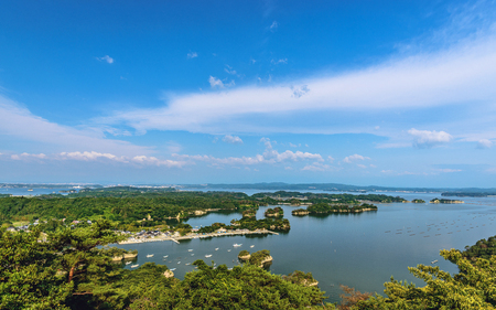 Matsushima of the three most beautiful views in Japan 版權商用圖片