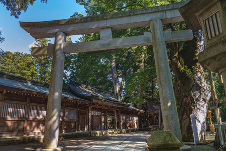 Scenery of the mysterious approach to shrine