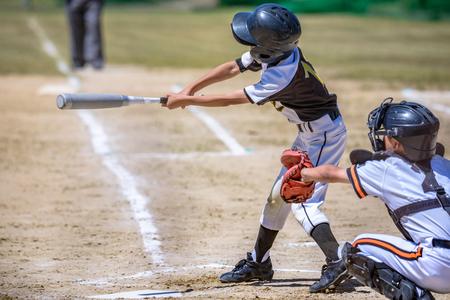 Baseballkinder Standard-Bild