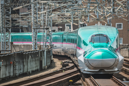 The E5 Series Shinkansen bullet train network of high-speed railway lines in Japan
