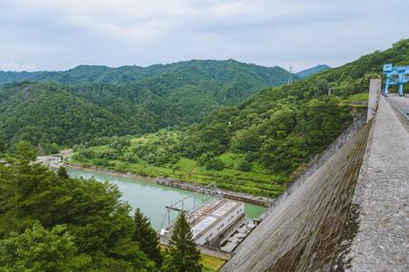 Scenery of the Tagokura dam in Fukushima, Japan