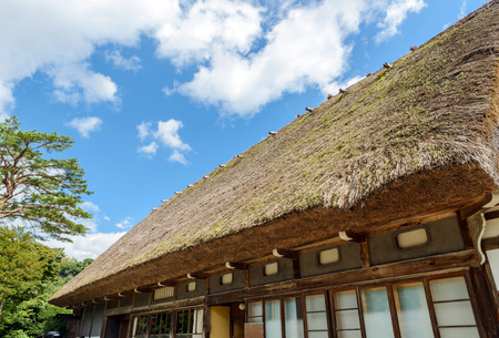 House with a steep rafter roof in World Heritage site Shirakawago, Japan Stock Photo - 92416923