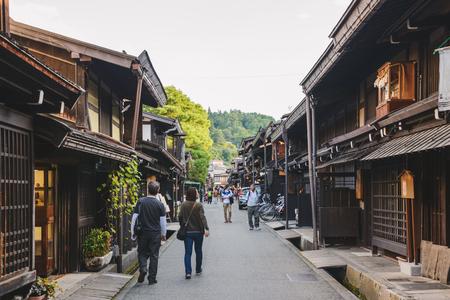 Traditional cityscape of the Takayama city in Gifu, Japan