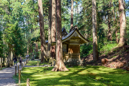Scenery of the Hiraizumi Hakusan jinja shrine Stock Photo
