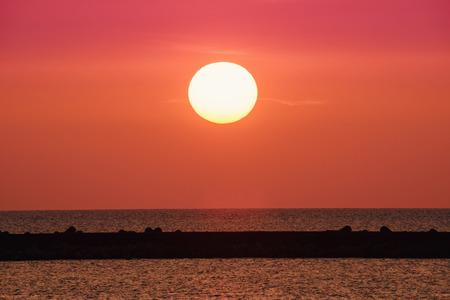 Beautiful sunset coast