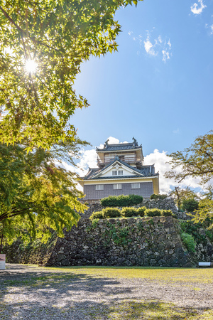 Scenery of the Echizen Ono jo castle in Fukui, Japan