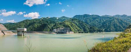Tedorigawa dam and Tedorigawa lake Stock Photo
