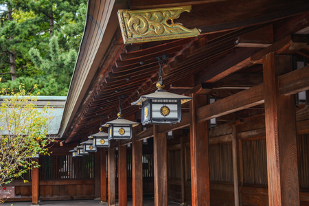 Scenery of the Kehi Jingu shrine Banque d'images