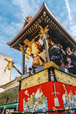 Scenery of the Otsu matsuri festival in Shiga, Japan