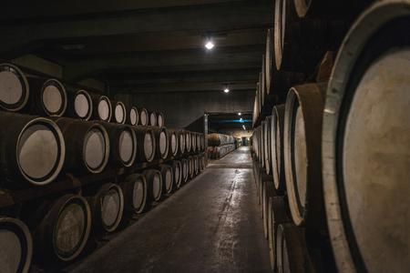 Distillery of whisky Stock Photo