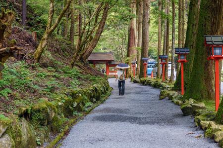 Shinmon gate of the Kifune jinja shrine in Kyoto Stock Photo