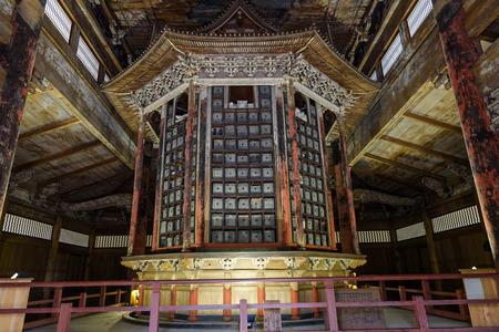 Hakkaku wazo (Octagonal ring storage) of the Mii dera temple in Otsu, Japan