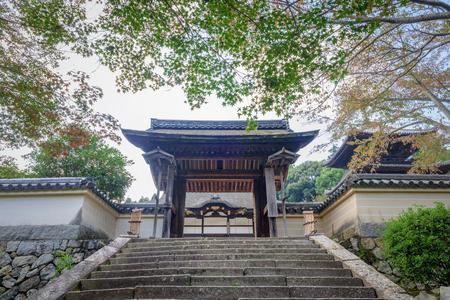 The Yotsuashimon gate of the Mii dera temple Stok Fotoğraf - 94237630