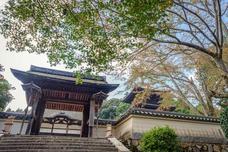 The Yotsuashimon gate of the Mii dera temple Stok Fotoğraf - 93963701