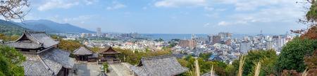 Cityview of Otsu city from Kannondo in Mii dera temple Stok Fotoğraf - 94094553