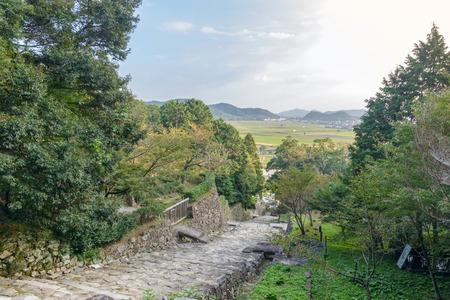 Scenery of the Azuchi castle ruins 版權商用圖片