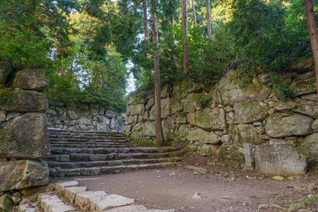 Scenery of the Kurogane mon Gate in Azuchi castle ruins